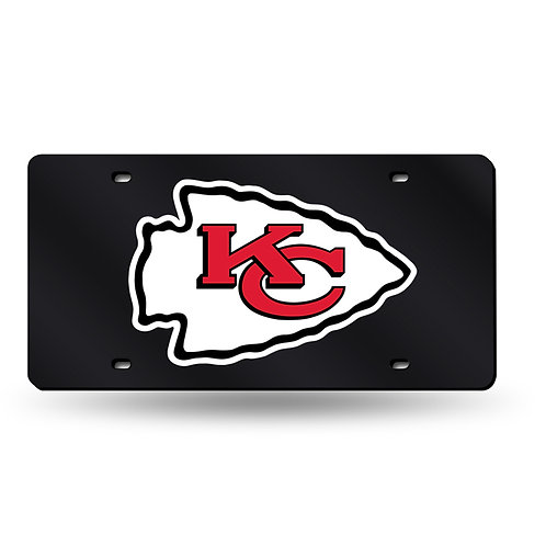 Kansas City Chiefs Laser Cut License Plate Tag