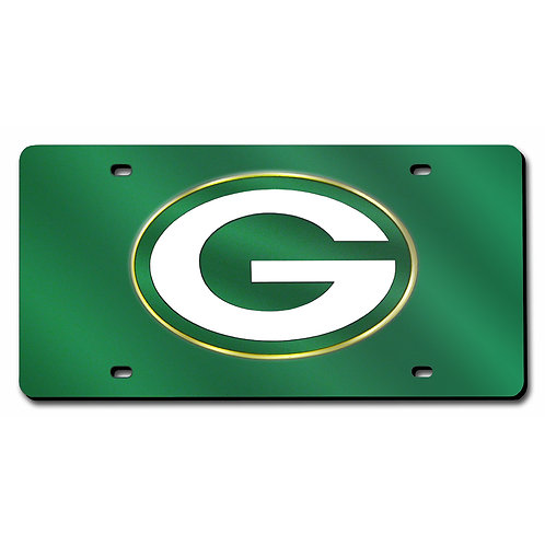 Green Bay Packers Laser Cut License Plate Tag