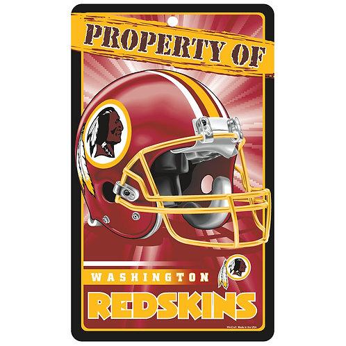 Washington Redskins Property Of Sign