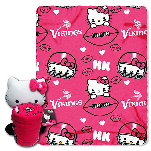 Minnesota Vikings Hello Kitty Throw Combo