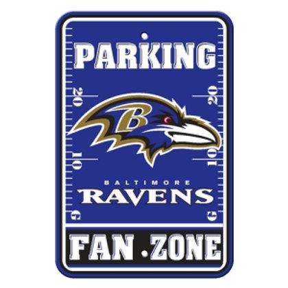 Baltimore Ravens NFL Plastic Parking Sign (Fan Zon