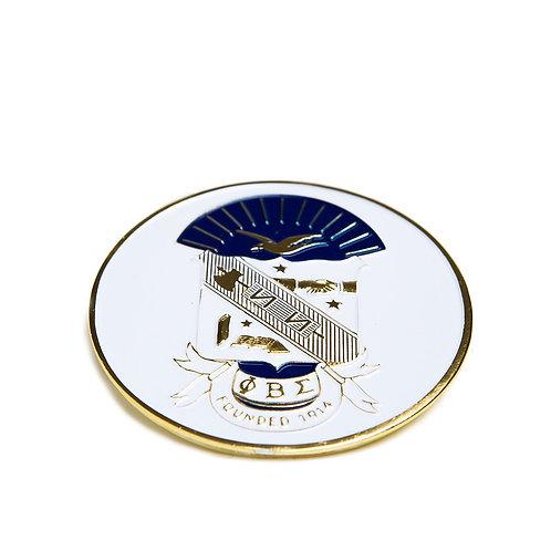 Phi Beta Sigma Round Car Badge