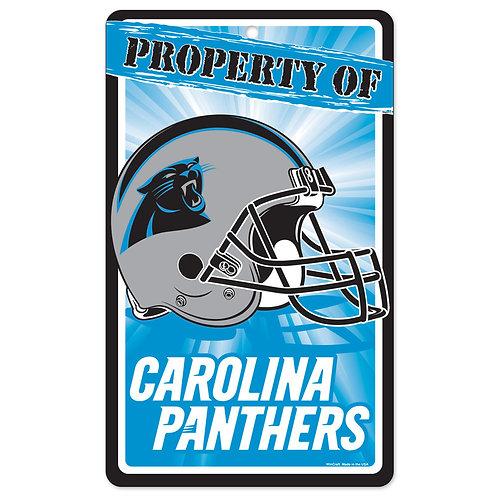 Carolina Panthers Property Of Signs (7.25x12)