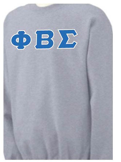 Sports Gray PBS Fleece Crewneck Sweatshirt