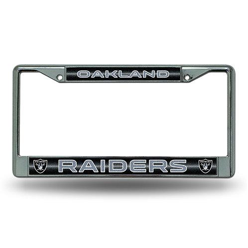 Raiders Laser Cut Chrome License Plate Frame
