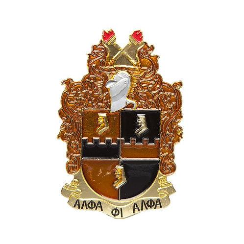 Alpha Phi Alpha Die Cut Car Badge