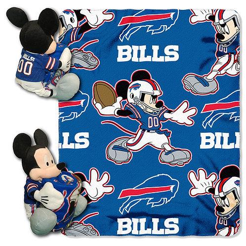Buffalo Bills Mickey Mouse Throw Combo
