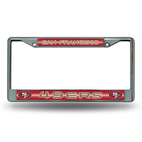 49ers Bling Glitter License Plate Frame