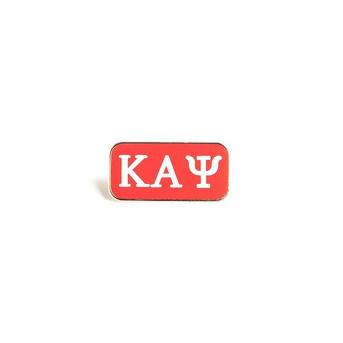 Kappa Alpha Psi 3 Letter Lapel Pin