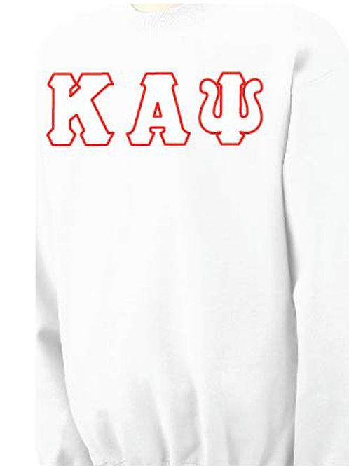 White Kappa Fleece Crewneck Sweatshirt