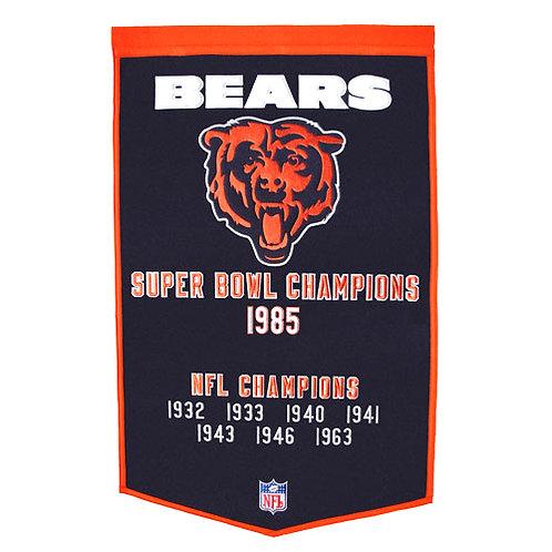 "Chicago Bears NFL ""Dynasty"" Banner (24""x36"")"