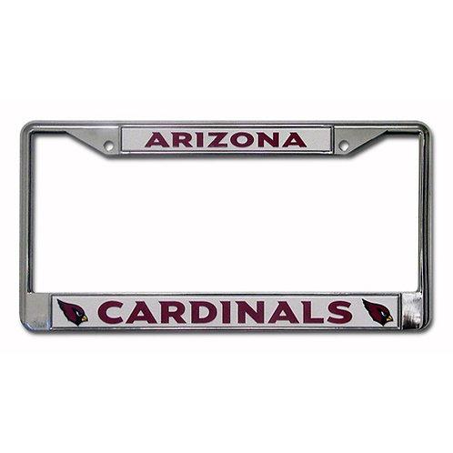 Arizona Cardinals Chrome License Plate Cover