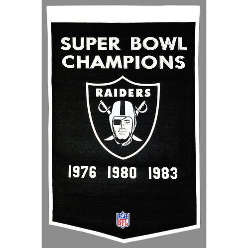 Oakland Raiders NFL Dynasty Banner (24x36)