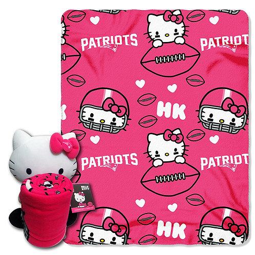 New England Patriots Hello Kitty Throw Combo