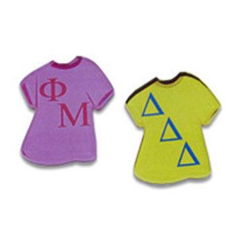 Delta Sigma Theta Greek Letter Tee Shirt Magnet