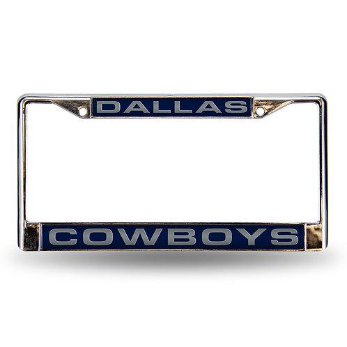 Cowboys Laser Cut Chrome License Plate Frame
