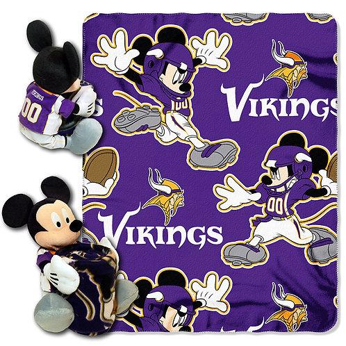 Minnesota Vikings Mickey Mouse Throw Combo
