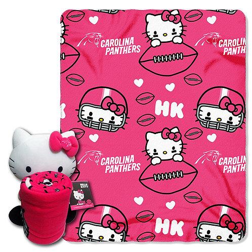 Carolina Panthers Hello Kitty Throw Combo