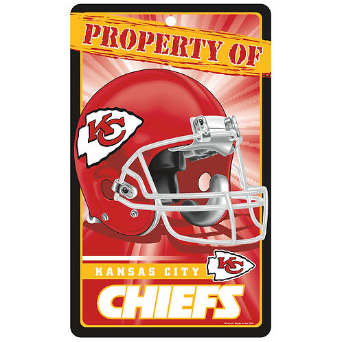 Kansas City Chiefs Property Of Signs (7.25x12)