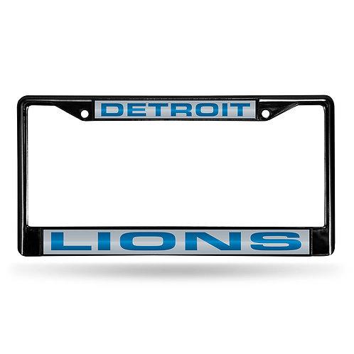Detroit Lions Laser Cut Black License Plate Frame