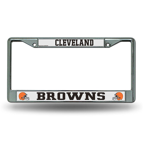 Cleveland Browns Chrome License Plate Cover