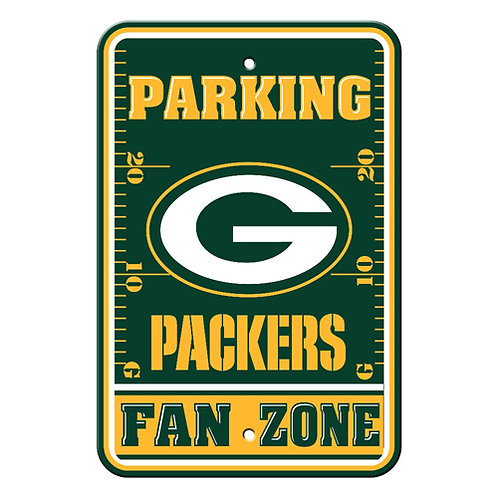 Green Bay Packers NFL Plastic Parking Sign