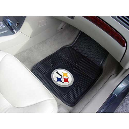 Pittsburgh Steelers NFL Vinyl Car Floor Mats (2)