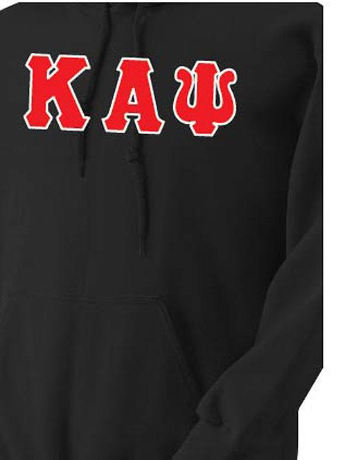 Black Kappa Fleece Hoody