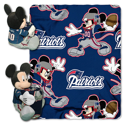 New England Patriots Mickey Mouse Throw Combo
