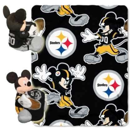 Pittsburgh Steelers Mickey Mouse Throw Combo