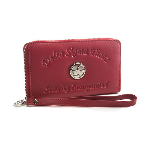 DST Ladies Embossed Soft Leather Wallet