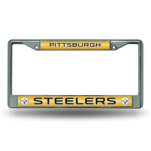 Steelers Bling Glitter License Plate Frame