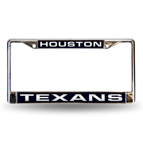 Texans  Laser Cut Chrome License Plate Frame