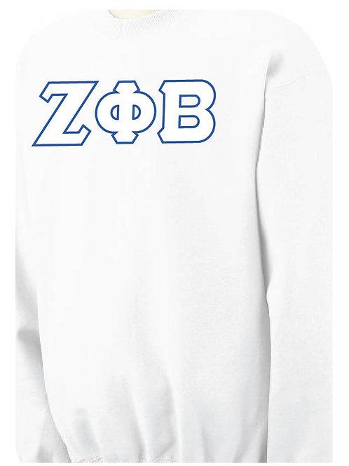 White Zeta Fleece Crewneck Sweatshirt