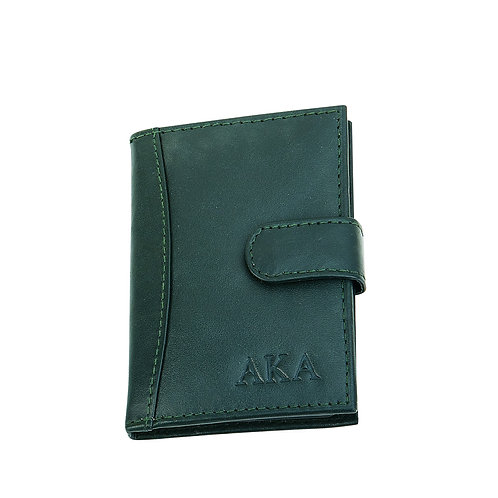 Alpha Kappa Alpha Leather Card Holder