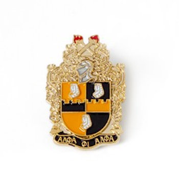 Alpha Phi Alpha 3D Color Shield Pin w/letters