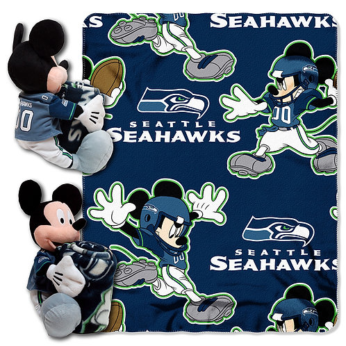 Seattle Seahawks Mickey Mouse Throw Combo