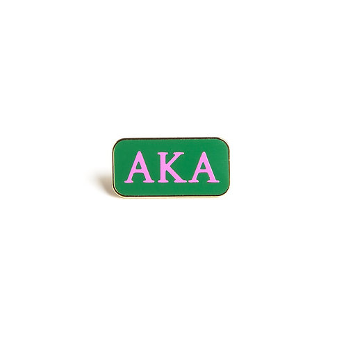 Alpha Kappa Alpha 3 Letter Lapel Pin