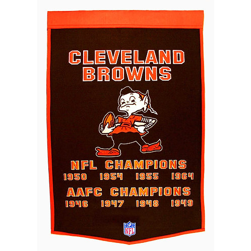 Cleveland Browns NFL Dynasty Banner (24x36)