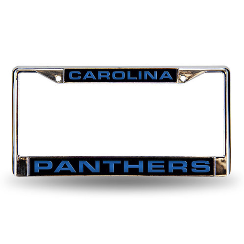 Panthers Laser Cut Chrome License Plate Frame