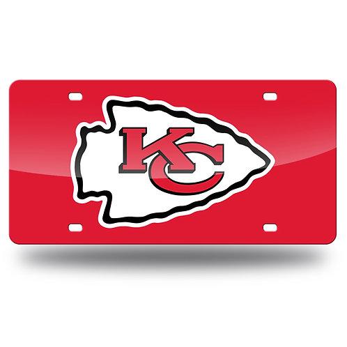 Kansas City Chiefs Laser Cut License Plate Tag