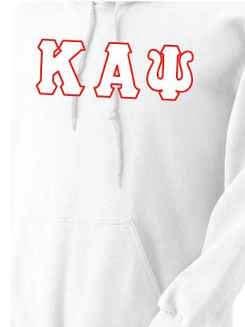 White Kappa Fleece Hoody