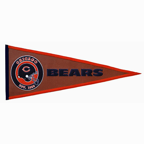 """Bears NFL """"Pigskin Traditions"""" Pennant (13x32)"""