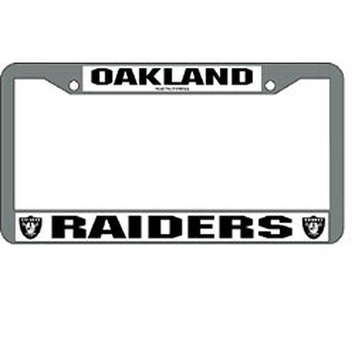 Oakland Raiders Chrome License Plate Cover