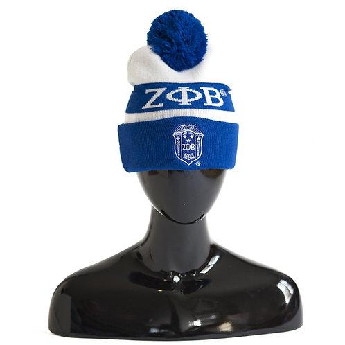 Zeta Phi Beta Knit Pom Beanie