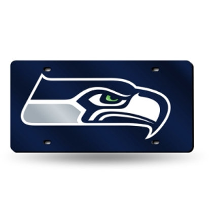 Seattle Seahawks Blue Laser Cut License Plate Tag