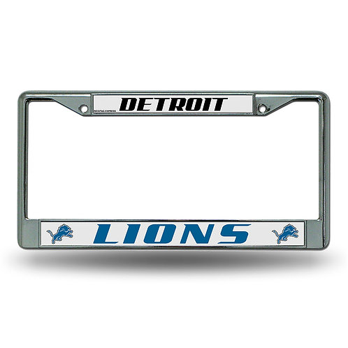 Detroit Lions Chrome License Plate Cover