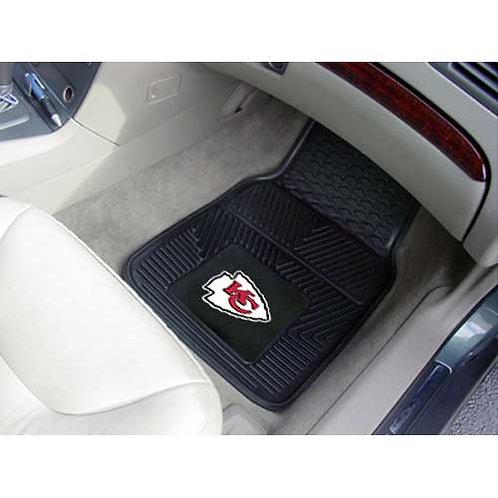 KC Chiefs NFL Heavy Duty 2-Piece Vinyl Car Mats