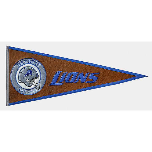 Detroit Lions Pigskin Traditions Pennant (13x32)