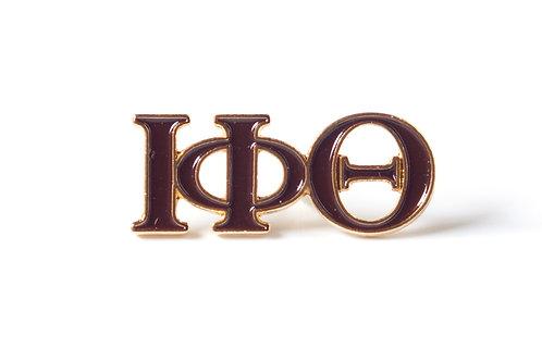 Iota Phi Theta 3 Letter Color Pin
